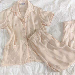 VINTAGE/ silk tulip pajamas